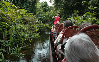 Boat ride through African Jungle